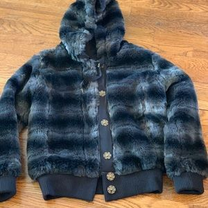 Grey Faux Fur jacket by Miss Me - Small